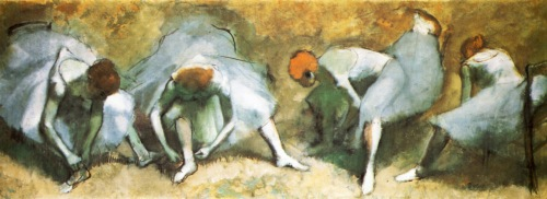 Edgar Degas, Dancers Tying Shoes ,1883 | Cleveland Museum of Art