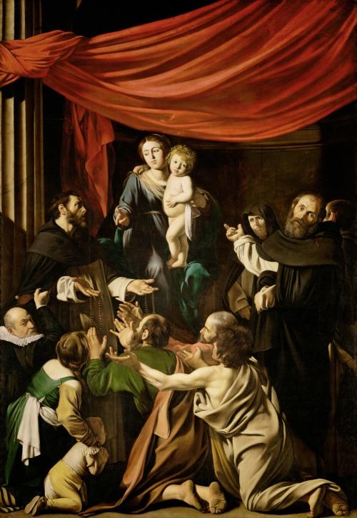 Caravaggio, Madonna del Rosario, 1605-1607, Kunsthistorisches Museum, Vienna