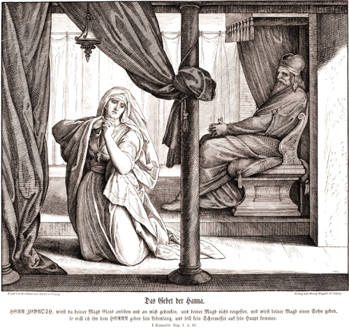 Hannah's Prayer in the Temple | Julius Schnorr von Carolsfeld 1794-1872, 'Die Bibel in Bildern' | Pitts Theology Library, Atlanta
