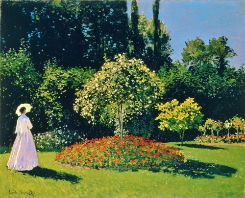 'Femme au Jardin,' Jeanne-Marguerite Lecadre in the Garden Sainte-Adresse | Oscar-Claude Monet, 1866 | The State Hermitage Museum, St. Petersburg