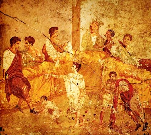 A Family Feast | Roman Fresco, pre ca. 79 AD | Museo Archeologico Nazionale di Napoli