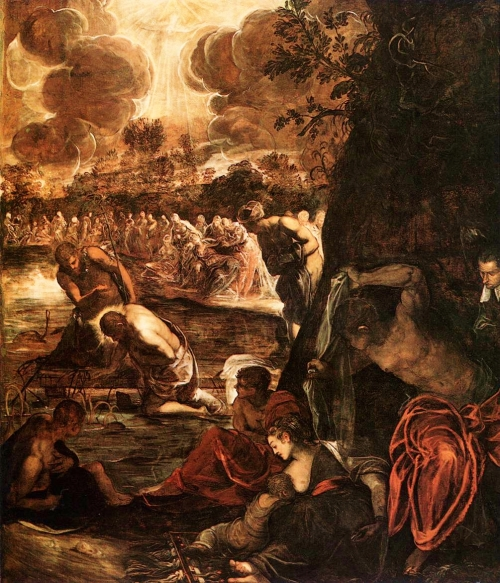 Jacopo Tintoretto, The Baptism of Christ |1579 -1581, Scula Grande di San Rocco, Venice