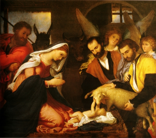 Adoration of the Shepherds | Lorenzo Lotto, 1534, oil on canvas | Pinacoteca Tosio Martinengo, Brescia, Italy