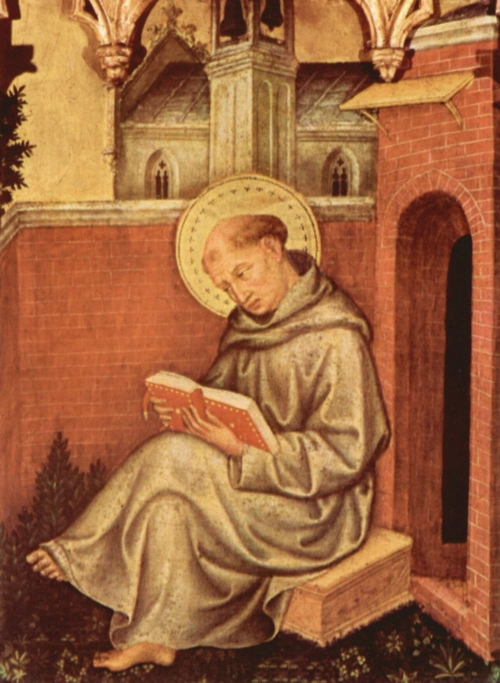The Angelic Doctor | Gentile da Fabriano, Valle Romita Polyptich (detail), ca. 1400 | Pinacoteca di Brera, Milano