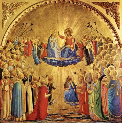 Retour/Rosaire méditation  biblique/photos/  Beato-fra-angelico_-coronazione-delle-vergine_-tempera-on-wood_1435_galleria-degli-uffizi-florence-italy