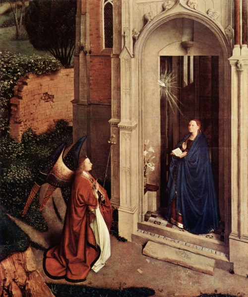 Petrus Christus, The Annunciation | c. 1450, oil on panel, Metropolitan Museum of Art