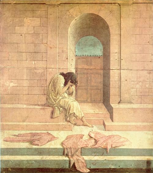 Alessandro Boticelli,  La Derelitta  (The Abandoned One), 1495 | Roma, Palazzo Pallavicini Rospigliosi, Private Collection