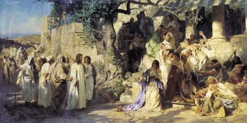 Henryk Semiradsky,  Christ And The Sinner | 1875, oil on canvas,  Russian Museum