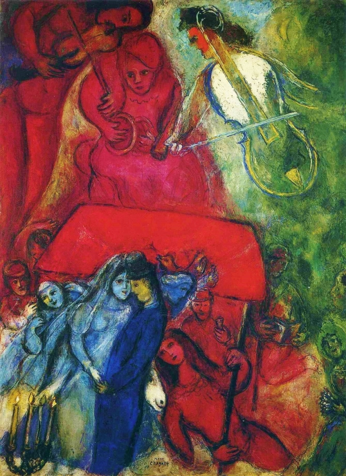 Marc Chagall, The Wedding, 1944 | Oil on canvas, Private Collection