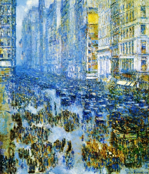 Childe Hassam, Fifth Avenue In Winter | 1919, Oil on Canvas, The Cleveland Museum of Art