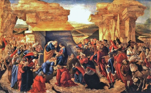 Sandro Botticelli, Adoration-of-the-Magi-1500 | Tempera on panel, Galleria Degli Uffizi, Florence, Italy