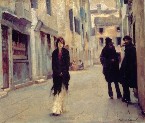 John Singer Sargent, Street in Venice | Oil on Canvas, c. 1882. National Gallery of Art, Washington DC