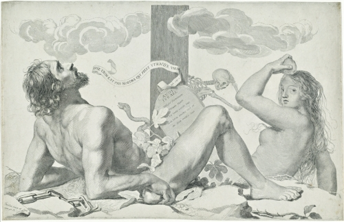 Claude Mellan, Adam and Eve at the Foot of the Cross | ca. 1647, Engraving on laid paper, National Gallery of Art, Washington D.C.