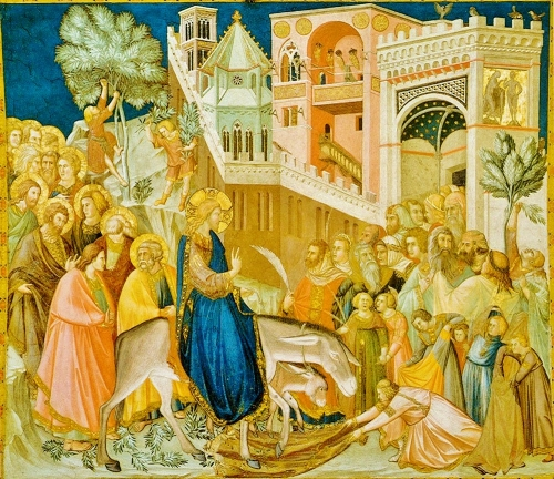 Pietro Lorenzetti, Christ's Triumphal Entry into Jerusalem |1320, Basilica di San Francesco, Southern Transept,  Assisi, Italy