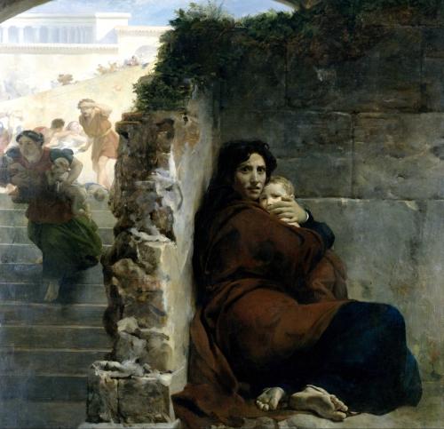 Leon Cogniet, Scène du Massacre des Innocents | 1824, Oil on Canvas, Musée des Beaux-Arts de Rennes: Rennes, France