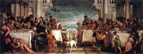 Paolo Veronese , Feast at The House of Simon | 1567-1570, Oil on Canvas, Pinacoteca di Brera, Milano