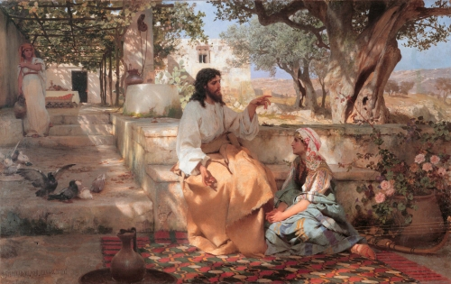 Henryk Siemiradzki, Christ in the House of Martha and Mary | 1886, Oil on Canvas, The State Russian Museum - Saint Petersburg