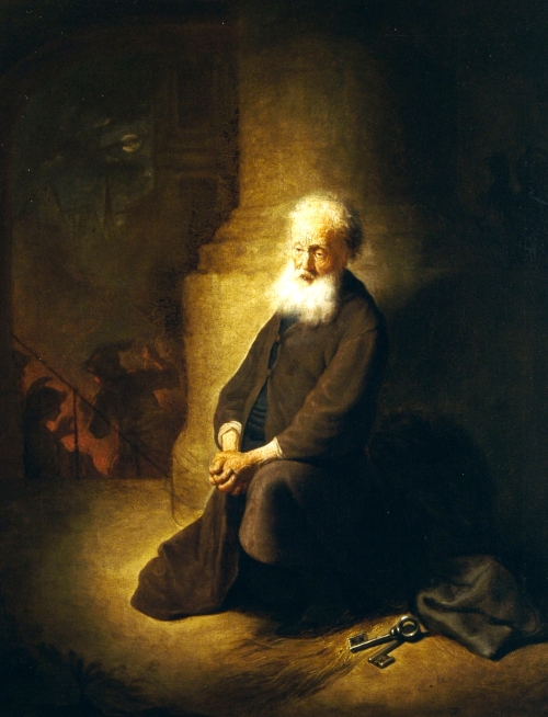 Rembrandt van Rijn, Repentant St. Peter | 1631, Oil on Panel | The Israel Museum, Jerusalem