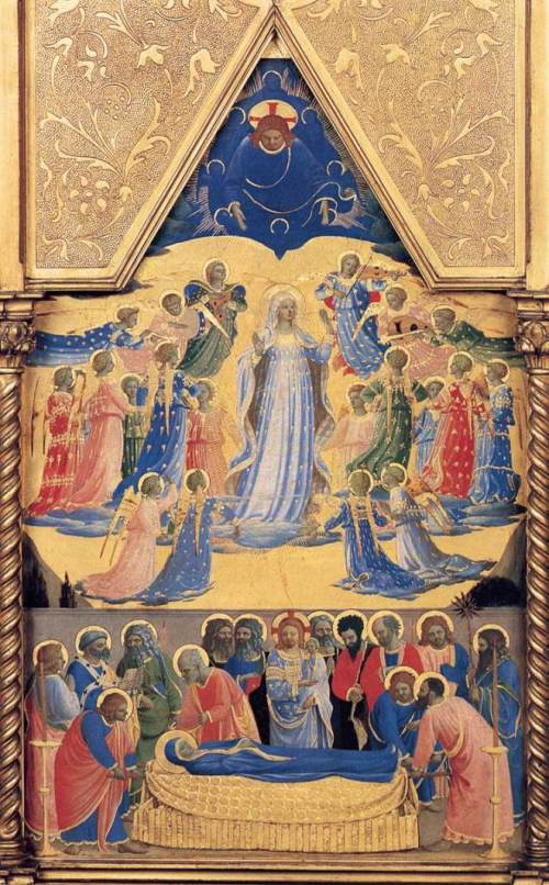 Fra Angelico, The Dormition and the Assumption of the Virgin | 1430, Gold and Tempera on a Tabernacle | The Isabella Stewart Gardner Museum, Boston