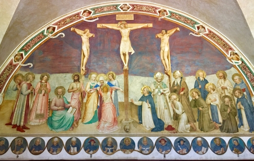 Fra Angelico, Crucifixion with Saints | 1441, Chapter Room Fresco | Convento di San Marco, Firenze