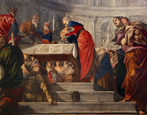 Jacopo Tintoretto , The Presentation of Christ in the Temple |Oil on Canvas, 1550-1555 | Gallerie dell'Accademia, Venezia