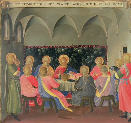 Fra Angelico, The Last Supper | Detail, Silver Treasury of Santissima Annunziata | ca. 1450-53, Tempera on Panel | Museo di San Marco, Firenze